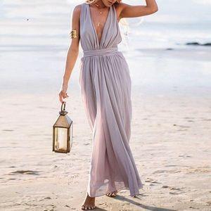 Sabo Skirt Isra Slate Gown
